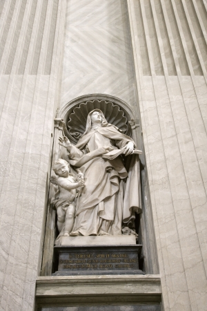Saint Teresa statue inside St. Peter's Basilica in Rome, Italy. Stock Photo - 2232672