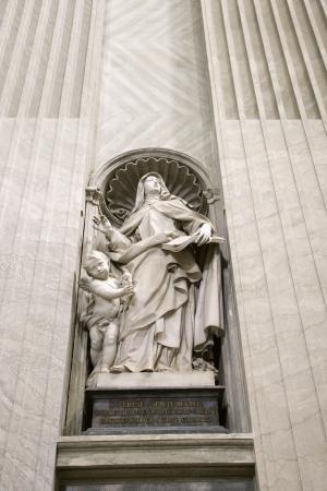 Saint Teresa statue inside St. Peter's Basilica in Rome, Italy. Stock Photo - 2232672