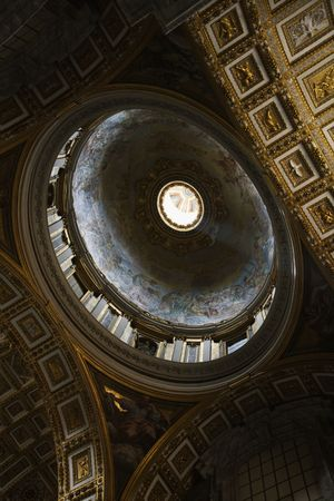 Interior of St. Peter's Basilica in Rome, Italy. Stock Photo - 2235047