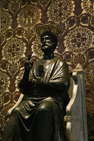 enthroned: Saint Peter Enthroned statue.