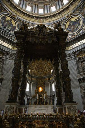 Interior of Saint Peter's Basilica, Rome, Italy. Stock Photo - 2235209