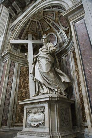 helena: Saint Helena statue inside Saint Peters Basilica, Rome, Italy.