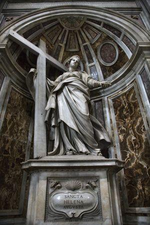 Saint Helena statue inside Saint Peter's Basilica, Rome, Italy. Stock Photo - 2235214