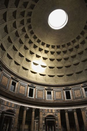 pantheon: Interior dome in Pantheon, Rome, Italy.