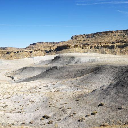 Rocky desert cliffs in Cottonwood Canyon, Utah. photo
