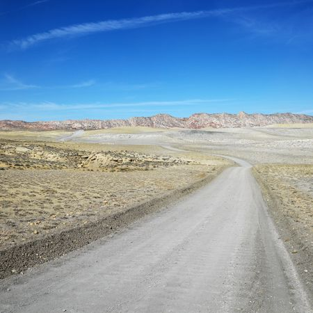cottonwood canyon: Dirt road through desert of Cottonwood Canyon. Stock Photo