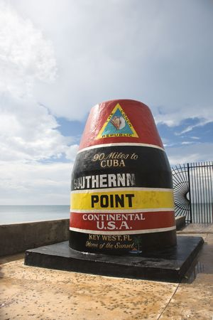 southernmost: Southernmost point landmark of Key West, Florida.
