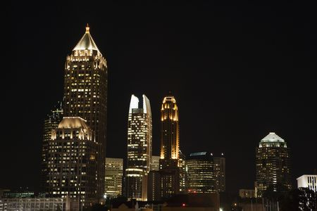 Nightscape of Atlanta, Georgia skyline. Stock Photo