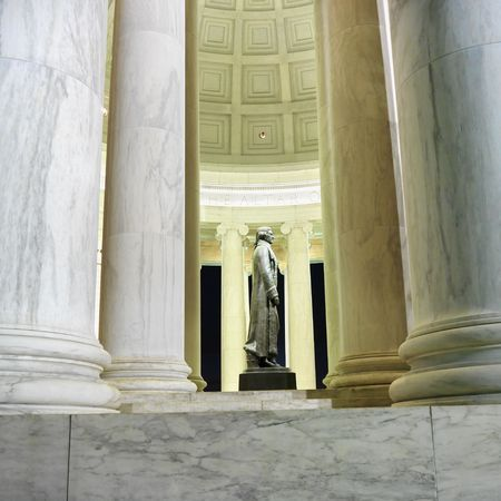 Jefferson Memorial at night in Washington, DC, USA.