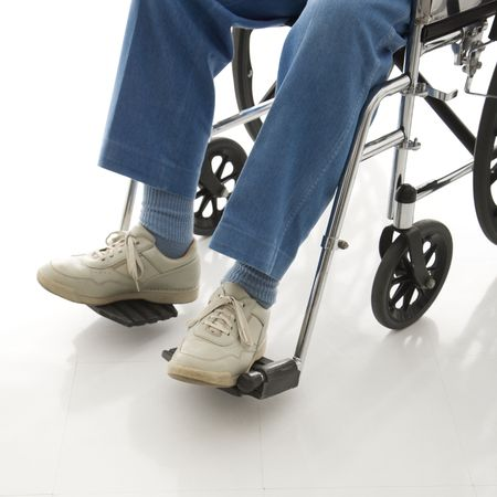 Legs and feet of elderly man sitting in wheelchair. Stock Photo - 2245957