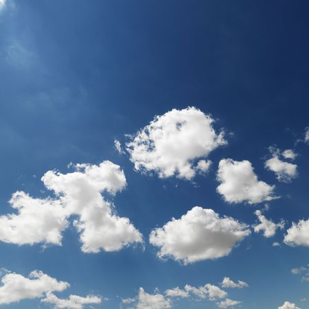 cloud formation: Cumulus cloud formation in blue sky. Stock Photo