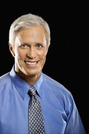 Caucasian middle aged businessman portrait. photo