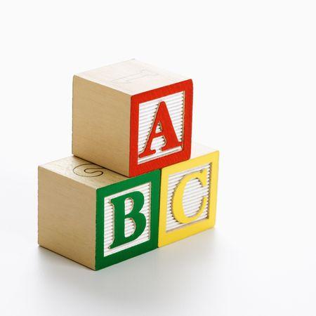 letter c: ABC alphabet blocks stacked together.