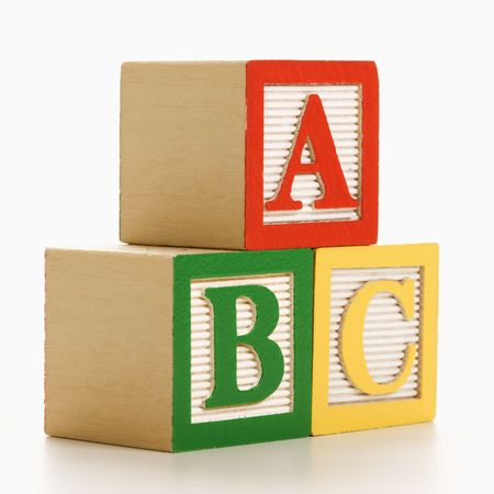 block letters: ABC alphabet blocks stacked together.