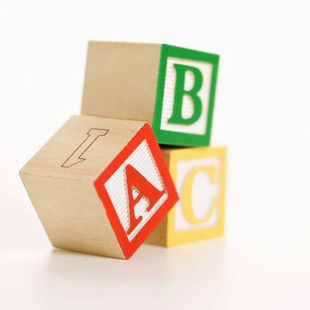 ABC alphabet blocks stacked together. Stock Photo - 2616755