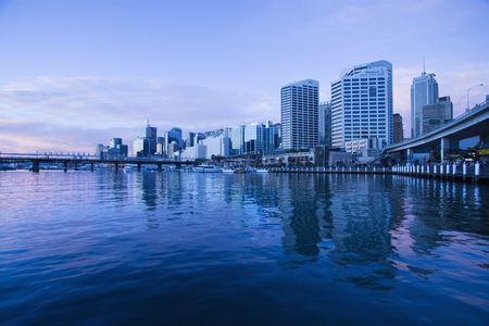 Darling Harbour and skyscrapers in Sydney, Australia. Stock Photo - 2616905