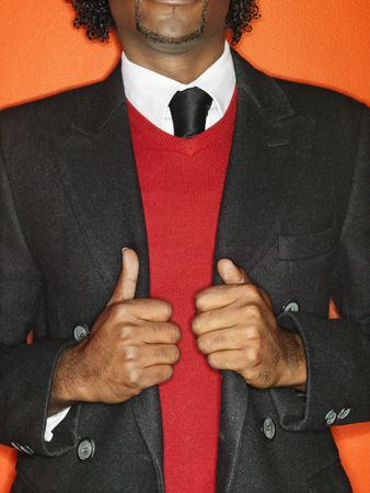 Close up of well dressed confident man. photo