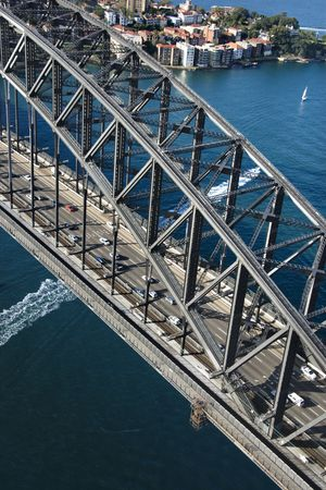 Detail aerial view of Sydney Harbour Bridge in Sydney, Australia. Stock Photo - 2658613