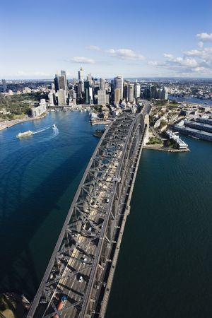 Aerial view of Sydney Harbour Bridge and skyline in  Sydney, Australia. Stock Photo - 2655411