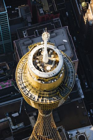 Aerial view of AMP Tower in Sydney, Australia. Stock Photo