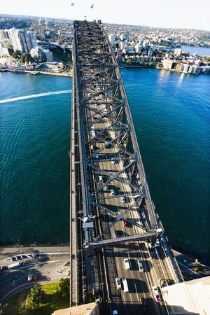 Aerial view of Sydney Harbour Bridge and cityscape in Sydney, Australia. Stock Photo - 2655277