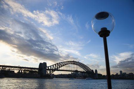 Sydney Harbour Bridge and lamppost, Australia. Stock Photo - 2658602