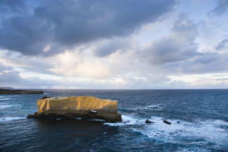 �rock formation�: Rock formation in ocean in Australia on the Great Ocean Road.