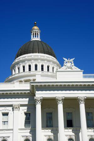 capitol building: Close-up of the Sacramento Capitol building, California, USA.