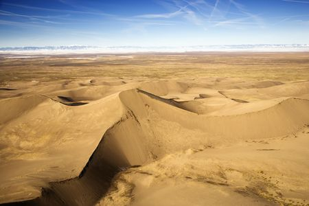 Scenic landscape of Great Sand Dunes National Park in Colorado, USA.