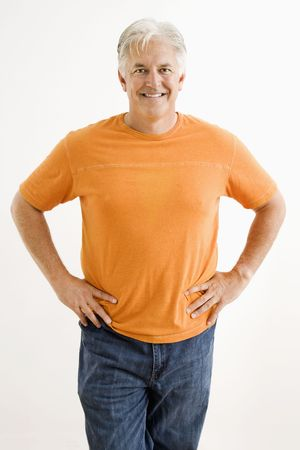 Portrait of smiling adult man standing looking at viewer. Stock Photo - 3557465