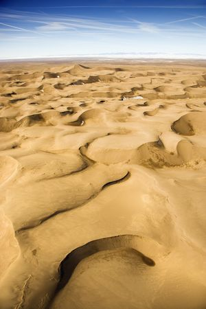 duna: Escénico del paisaje de dunas de arena de Gran Parque Nacional en Colorado, EE.UU..  Foto de archivo
