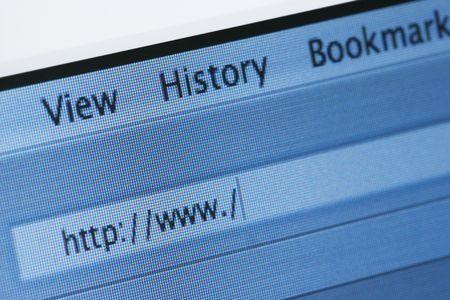 address bar: Internet browser address bar with a blank web address. Horizontal shot.