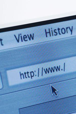address bar: Internet browser address bar with a blank web address. Vertical shot.