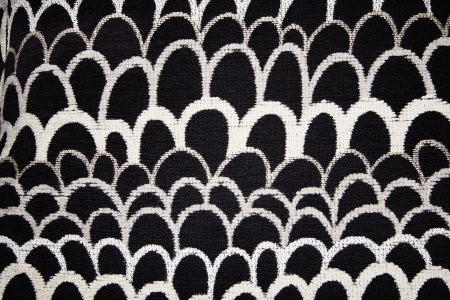 Close up of black and white textile pattern. Stock Photo - 6924811