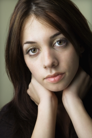 Portrait of pretty young brunette woman. Stock Photo - 6924755
