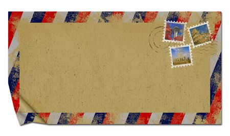 envelope of the old paper photo