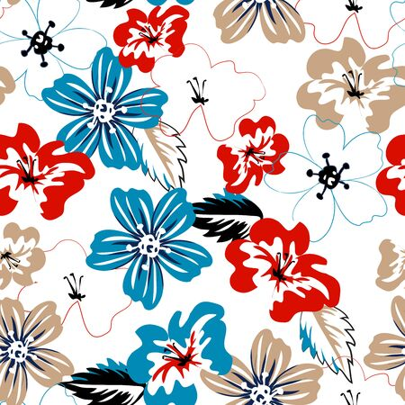 seamless floral pattern. summer abstract background.