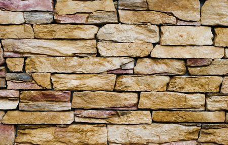 yellow stone: Muro de piedra amarilla  Foto de archivo