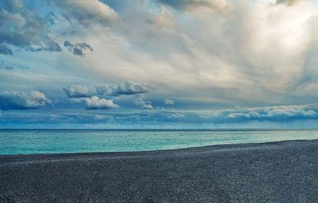 peeble: Beautiful beach with peeble stones