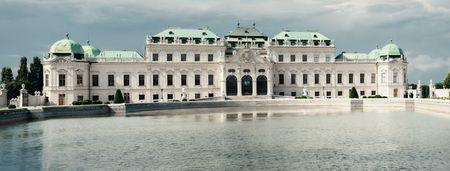 Summer palace Belvedere in Vienna  Austria Editorial