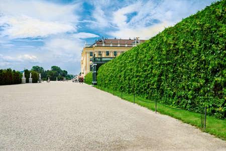 schonbrunn palace: Schonbrunn Palace in Vienna, Austria  Stock Photo