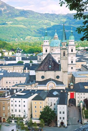 View over Salzburg. Austria photo