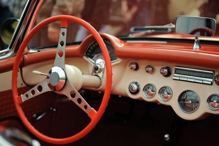 Interior old luxury car Stock Photo