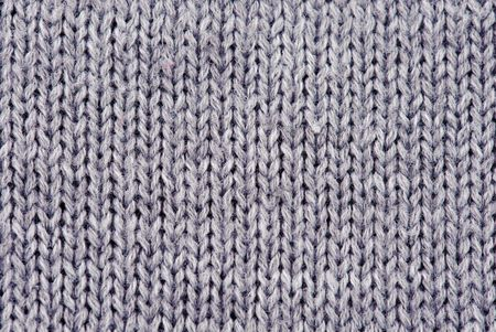 Close-up of knitted wool texture. Gray Stock Photo - 8145589