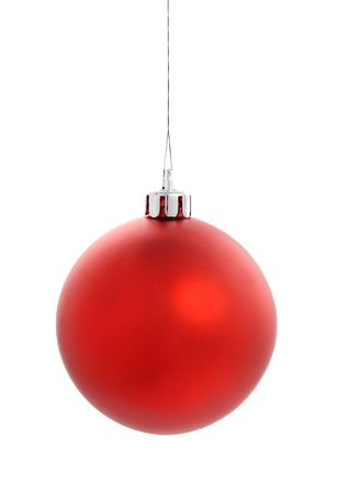 Red Christmas Ball on white photo