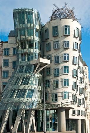 Modern architecture  Dancing house in Prague  Czech republic