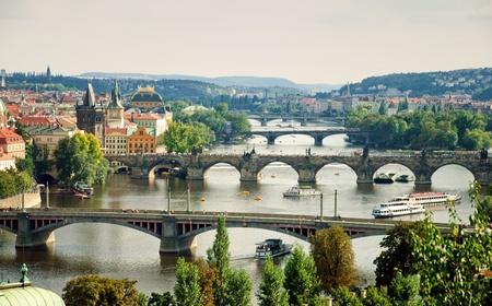 Prague briges from Letensky gardens Stock Photo - 8404992