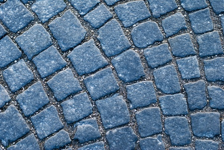 Old European pavement with cobblestones