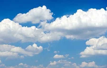 Blue cloudscape sky