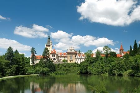 Pruhonice Castle, Czech Republic  Stock Photo